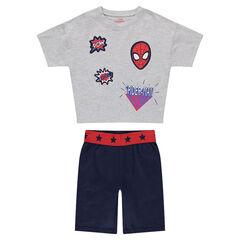 Korte pyjama van jerseystof met badges van ©Marvel Spiderman