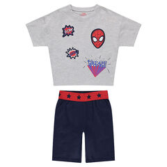Pyjama court en jersey avec badges ©Marvel Spiderman