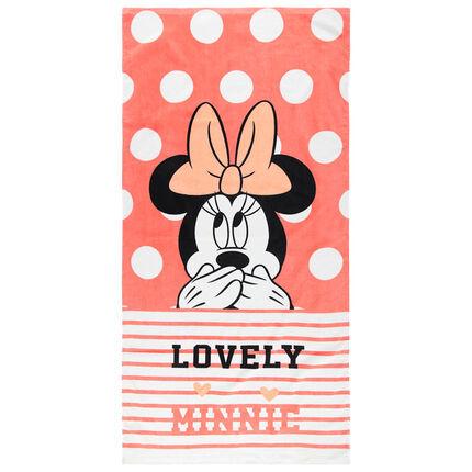 Serviette de plage à pois et motif Minnie Disney