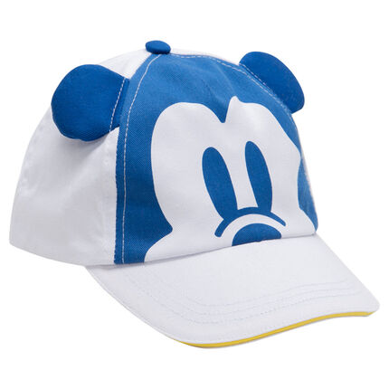 Casquette en twill avec print Mickey ©Disney et oreilles en relief