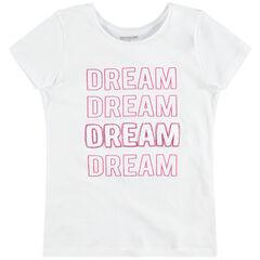 Junior - T-shirt manches courtes en jersey à inscriptions pailletées