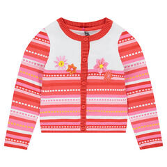 Gilet en tricot avec motif jaquard all-over