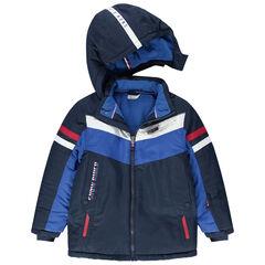 Junior - Waterdichte ski-jas met zakken met ritssluiting en gevoerd met microfleece