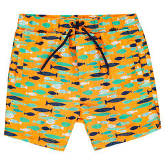 "Zwemshort met vissenprint ""all-over"""