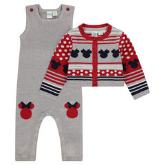 Ensemble gilet et salopette en tricot Disney Minnie