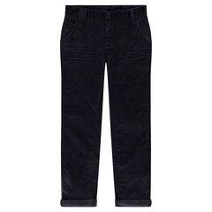 Junior - Pantalon coupe slim en velours