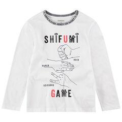 Junior - T-shirt met lange mouwen uit jerseystof met print met symbolen