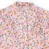 Chemise manches longues à col fantaisie et imprimé floral all-over