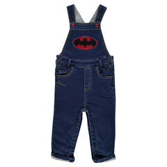 Salopette longue en jeans DC Comics avec badges Batman