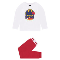 Pyjama in twee kleuren van molton met BATMAN print