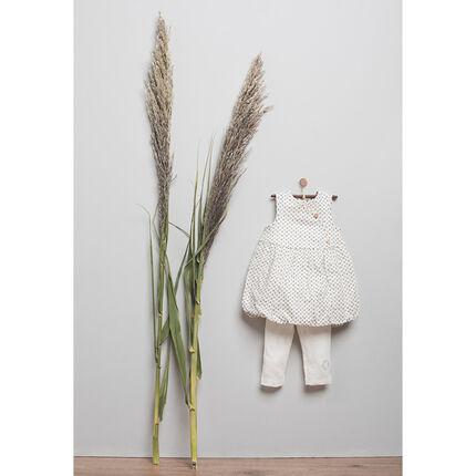 Ensemble naissance robe et legging en coton bio