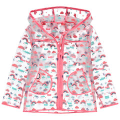 "Windstopper met transparante kap en ""all-over"" print"