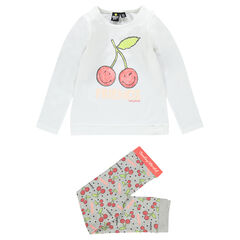 Ensemble de pyjama print cerises ©Smiley