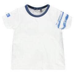 Tee-shirt manches courtes avec bandes sur la manche
