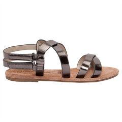Sandalen met metaaleffect