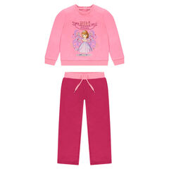 Ensemble de jogging en molleton rose Disney Princesse Sofia