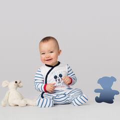 Pyjama van jerseystof met strepen en print van Disney Mickey