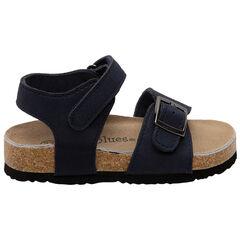 Sandalen met gesp en klittenband met kurk-effect , SAXO BLUES