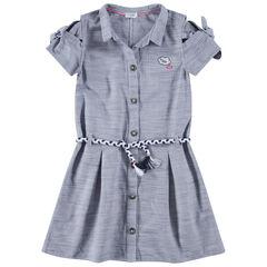 Junior - Hemdjurk met korte mouwen en gevlochten riem