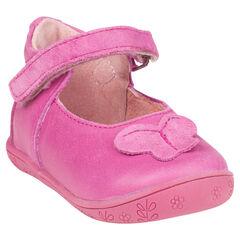 Baby's in roze leder