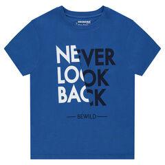 Junior - T-shirt met korte mouwen van jerseystof en fantasieprint aan de voorzijde