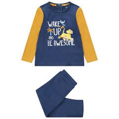 Pyjama van jerseystof met opschrift en print van Simba van Disney