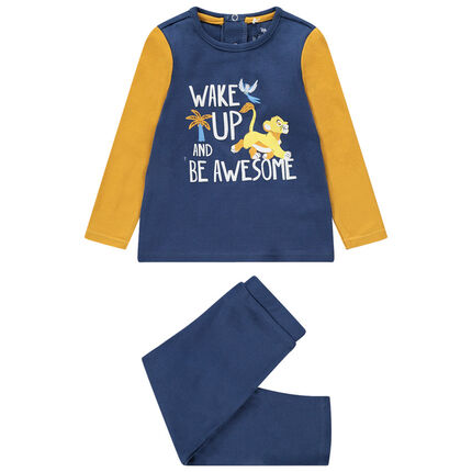 Pyjama en jersey avec inscription et Simba Disney printé