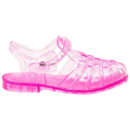 Chaussures de plage transparentes roses
