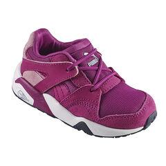 PUMA - Baskets basses coloris violet à lacets élastiqués du 24 au 27
