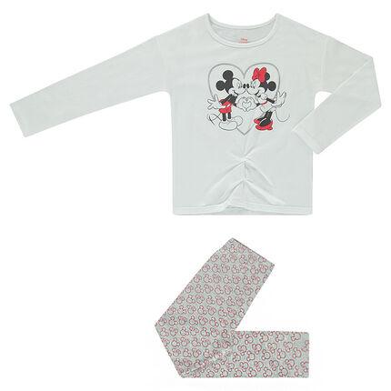 Pyjama uit jerseystof met print van ©Disney Mickey en Minnie