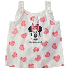 Débardeur en coton à coeurs all-over et print Minnie Disney