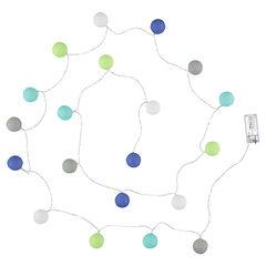 Lichtslinger met ledlampjes en contrasterende ballen