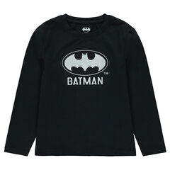 Junior - Tee-shirt manches longues en jersey print logo ©Batman