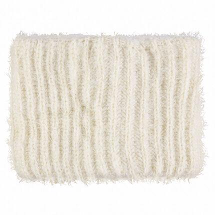 Snood van tricot met voering van sherpastof