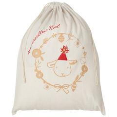 Pochon esprit Noël en coton recyclé , Prémaman