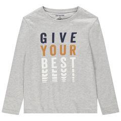 Junior - T-shirt met lange mouwen uit jerseystof en met print met fantasiemotief
