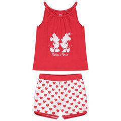 Pyjama court print Mickey et Minnie Disney et coeurs