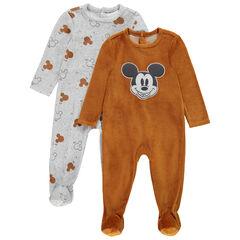Lot de 2 dors-bien en velours print Mickey Disney pour bébé garçon , Orchestra