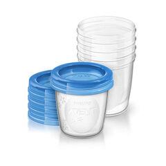 Lot de 5 pots de conservation pour lait maternel - 180 ml