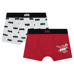 Junior - Lot de 2 Boxers en coton BATMAN