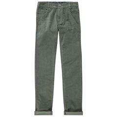 Junior - Pantalon slim en velours uni à poches