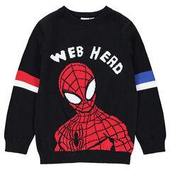 Pull en tricot avec ©Marvel Spiderman en jacquard
