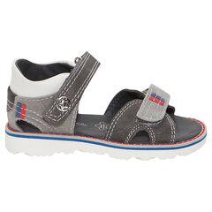 Lederen sandalen met klittenbandsluiting