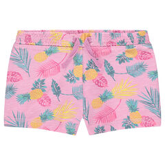 "Short uit slub jerseystof met print ""all-over"""