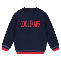 Pull en tricot fin avec motif jacquard