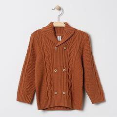 Gilet en tricot fantaisie à double boutonnage