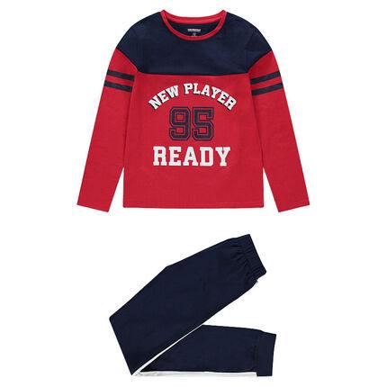 Junior - Pyjama en jersey bicolore esprit sportswear