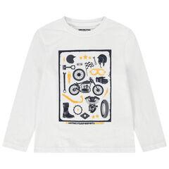 T-shirt manches longues en jersey avec print fantaisie