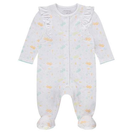 """Pyjama van jerseystof met vissenprint """"all-over"""""""