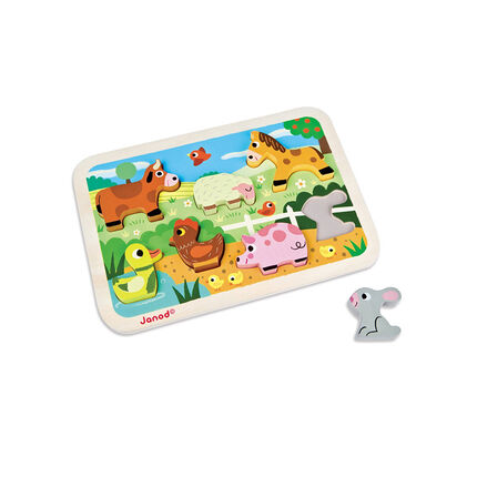 Puzzle 1er age Ferme Chunky